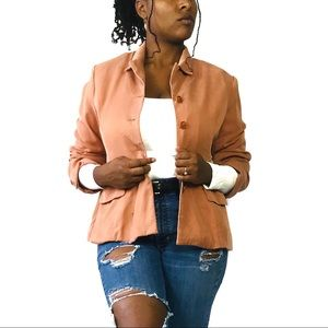 MLM Peach relaxed fit single breast blazer size 40